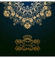 Royal background vector image