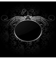 Royal background with silver frame vector image vector image