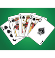 Royal Flush of Spades vector image vector image