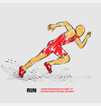 running man outline man vector image vector image