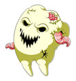 scary tooth cartoon character vector image