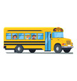 school bus with kids sitting near windows vector image vector image