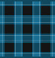 seamless black blue tartan with white stripes vector image