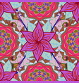 seamless flowers pattern in asian textile style vector image vector image