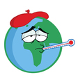 Sick Planet Earth vector image
