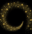 stream of golden stars and particles vector image vector image