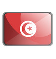 tunisia flag on white background vector image vector image