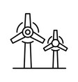 wind power plant icon outline style vector image vector image