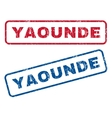 Yaounde Rubber Stamps vector image vector image