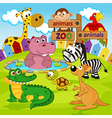 zoo animals vector image vector image