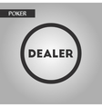 black and white style chip dealer vector image