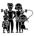 family active happy sport gym icon vector image