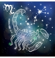Scorpio zodiac signHoroscope circleSpace dark vector image