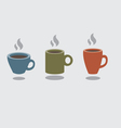 Set Of Hot Coffee Cup vector image