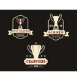 American football badge with winner cup sport vector image vector image