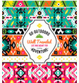 american indian ornate pattern design vector image vector image