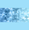 banner template with low poly design vector image