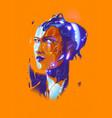 bionic lady vector image