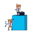 business teamwork coworkers vector image