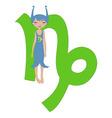 capricorn zodiac symbol vector image