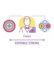 casino concept icon croupier card dealer idea vector image