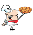Chef presenting his pizza pie vector | Price: 1 Credit (USD $1)
