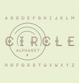 circles regular font alphabet vector image
