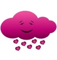 Cloud in love vector image vector image