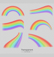colorful rainbows set collection realistic vector image vector image