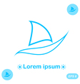 Concept of boat on white background vector image vector image