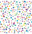 confetti background vector image vector image