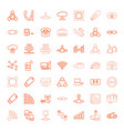 connect icons vector image vector image
