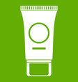 cosmetic cream tube icon green vector image vector image