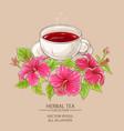 cup of hibiscus tea vector image vector image