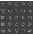 Customer service linear icons vector image vector image