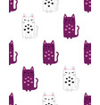 cute kitty pattern vector image vector image
