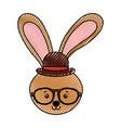 cute scribble vintage rabbit vector image vector image
