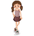 cute young girl cartoon character vector image