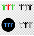 dancing people eps icon with contour vector image