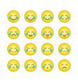 emoticon smile icons set 15 vector image vector image