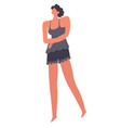 female character wearing clothes for home woman vector image
