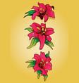 flower piece pinktattoo vector image vector image