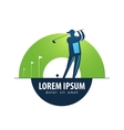 Golf logo design template sports or game vector image vector image