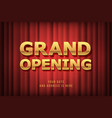 grand opening banner template festive design vector image