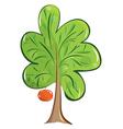 green fruit tree vector image vector image
