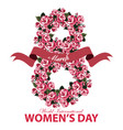 greeting card for women day vector image vector image