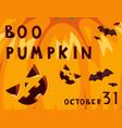 halloween party celebration invitation card vector image vector image