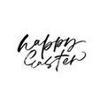 happy easter black calligraphy vector image vector image