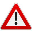 Isolated Alert Triangle Sign vector image vector image