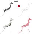 Japan outline map set vector image vector image